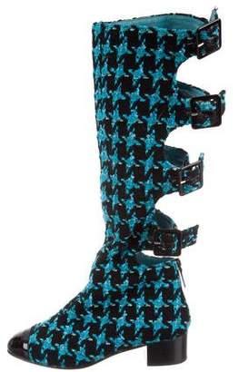 Chanel Tweed Cap-Toe Boots