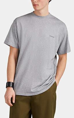 Balenciaga Men's Oversized Logo Cotton T-Shirt - Gray