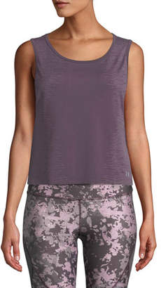 Under Armour Cropped Scoop-Neck Activewear Muscle Tank