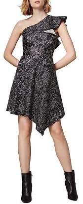 Karen Millen Jacquard One-Shoulder Dress
