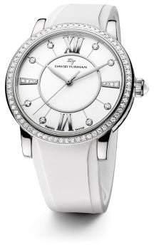 David Yurman Classic 38Mm Rubber Swiss Quartz Watch With Diamonds