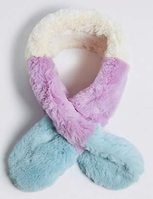 Marks and Spencer Kids' Faux Fur Long Scarf