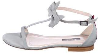 Sarah Jessica Parker Grosgrain T-Strap Sandals