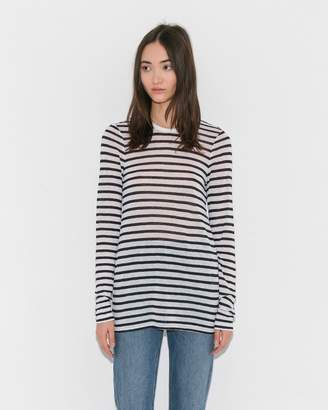Alexander Wang Striped Classic Long Sleeve Tee