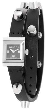 Gucci G-Frame leather watch