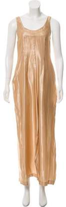 Maison Margiela Sleeveless Maxi Dress Gold Sleeveless Maxi Dress