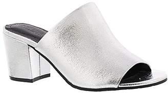Kenneth Cole Reaction Women's Mass-TER Mind Open Toe Slide Block Heel Metallic Pump