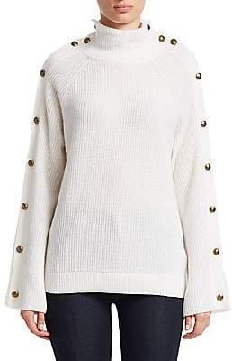 Ralph Lauren Women's Long-Sleeve Button Cashmere Sweater