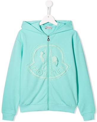 Moncler logo patch zipped hoodie