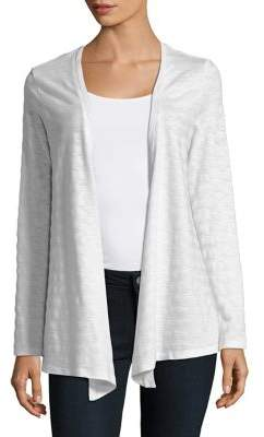 Lord & Taylor Plus Fly Away Open-Front Cardigan