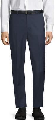 Claiborne Slim Fit Microfiber Flat Front Pants