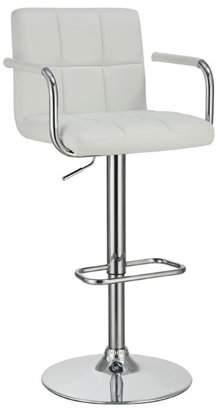 Coaster Company Coaster White Adjustable Bar Stool