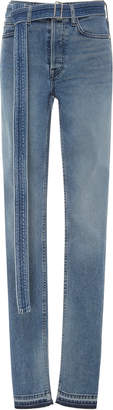 Cotton Citizen Belted High-Waisted Skinny Jeans
