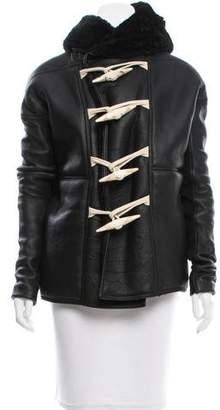 Rick Owens Shearling Hooded Jacket