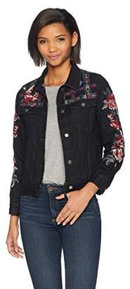 3J Workshop by Johnny Was Women's Embroidered Canvas Jacket