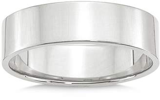Bloomingdale's Men's 6mm Lightweight Flat Band in 14K White Gold - 100% Exclusive