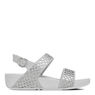 Women's White/Silver Leather Safi Back Strap Sandal