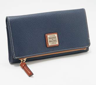 Dooney & Bourke Pebble Leather Foldover Wallet