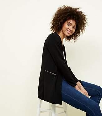 Yumi Black Zip Side Blazer