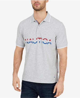 Nautica Men's Racer Signature Classic Fit Polo, Created for Macy's