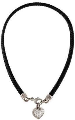 Judith Ripka 18K Diamond Heart Pendant Necklace Black 18K Diamond Heart Pendant Necklace