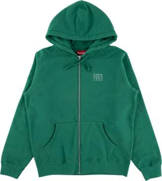 Supreme World Famous Zip Up Hooded Swe - 'SS 18' - Light Pine