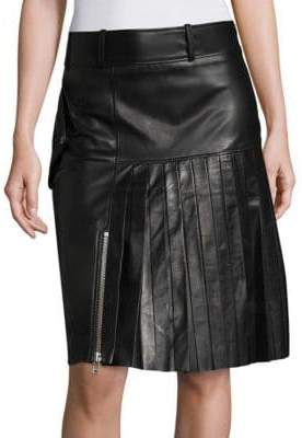 Public School Ebele Leather Pleated Skirt