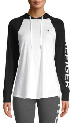 Tommy Hilfiger Performance Hooded Raglan Sleeve Pullover
