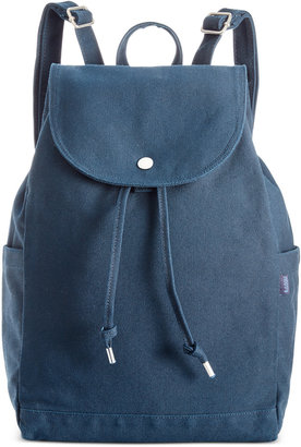 Baggu Cotton Drawstring Backpack $42 thestylecure.com