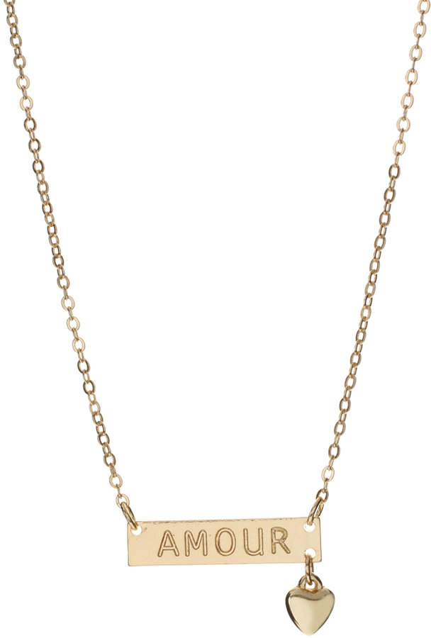 ASOS 'Amour' ID Necklace With Hanging Heart Charm