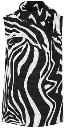 Emilio Pucci Tie-Neck Printed Silk Wrap Top