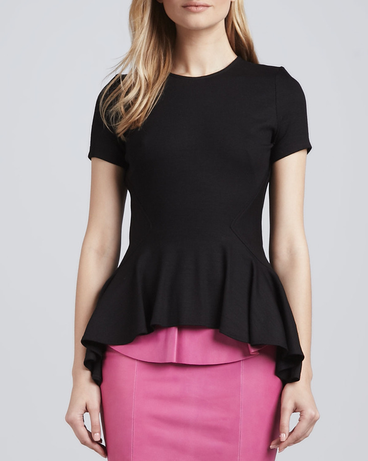 Torn By Ronny Kobo Alaina Arched-Peplum Top