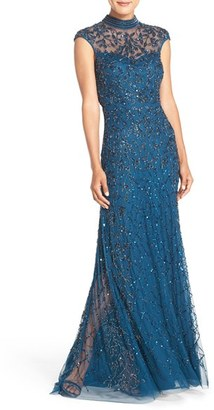 Women's Adrianna Papell Embellished Mesh Gown $369 thestylecure.com