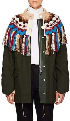 Sacai Women's Nordic Fair Isle Wool-Blend Jacket
