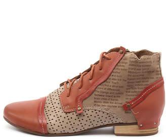 Django & Juliette Dandle Blue multi Boots Womens Shoes Casual Ankle Boots