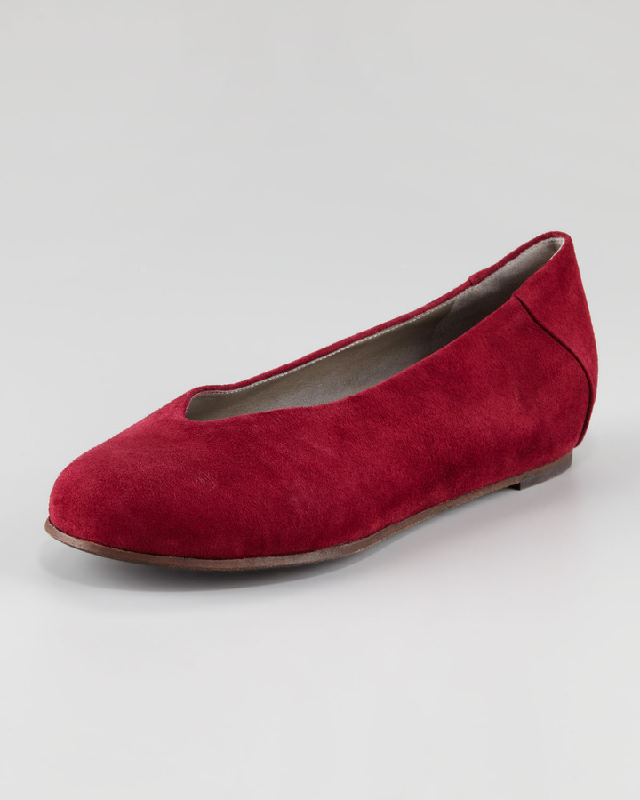 Eileen Fisher Patch I Suede Envelope Wedge Flat