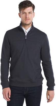 Van Heusen Mens Flex Classic-Fit Stretch Fleece Quarter-Zip Pullover