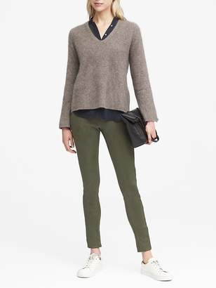 Banana Republic Petite Devon Legging-Fit Vegan Stretch-Suede Ankle Pant