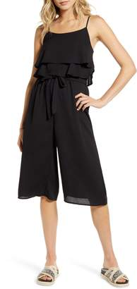 One Clothing Ruffle Sleeveless Crop Jumpsuit