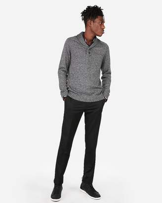 Express Button Shawl Neck Sweater