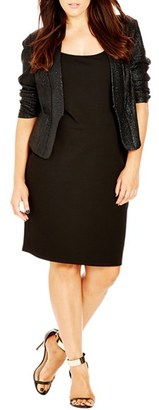 City Chic 'Shimmer' Jacket (Plus Size) $89 thestylecure.com