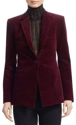 Theory One-Button Corduroy Blazer