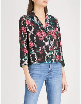 Sandro Floral print crepe shirt