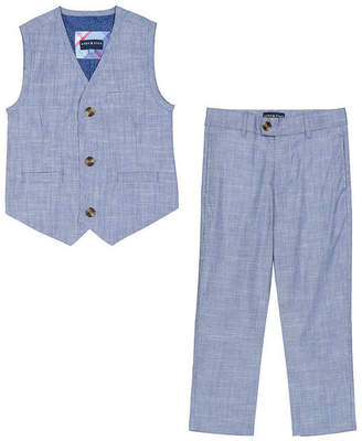 Andy & Evan For Gentlemen Solid Vest & Pant Set