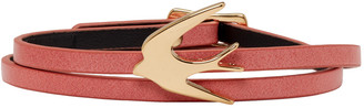 McQ Alexander Mcqueen Pink Swallow Mini Wrap Bracelet $65 thestylecure.com