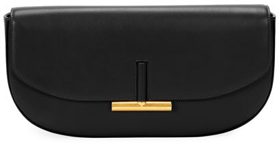 Tom Ford Tom Ford Small Sasha T Magnet Clutch Bag, Black