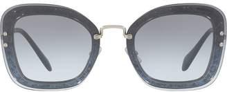 Miu Miu (ミュウミュウ) - Miu Miu Eyewear スクエアフレーム サングラス