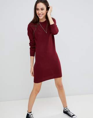 Brave Soul Grungy Round Neck Sweater Dress