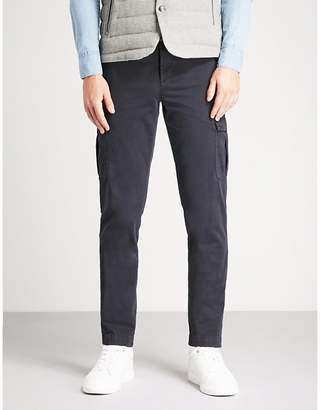 Eleventy Slim-fit skinny stretch-cotton chinos