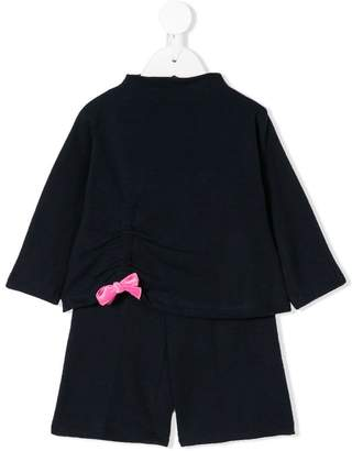 Il Gufo ruched bow tracksuit set